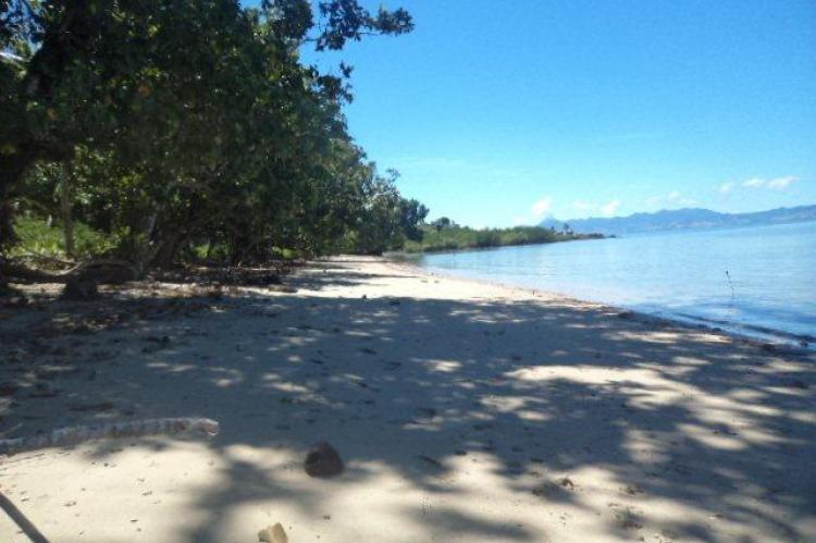 Beach before the lots, Vanua Levu, Fiji, South Pacific